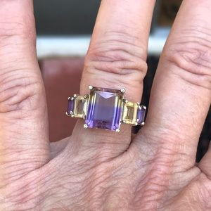 Huge 4 Carat Ametrine Ring